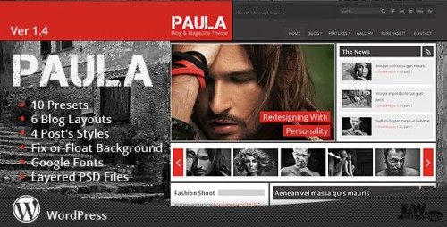 19_Paula - Blog &amp; Magazine Wordpress Theme