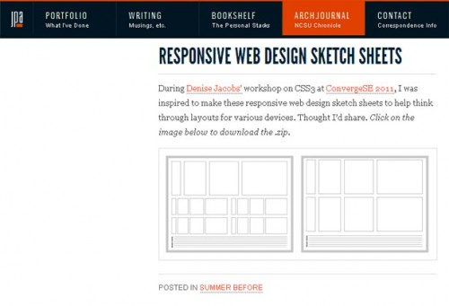 1_Responsive Web Design Sketch Sheets