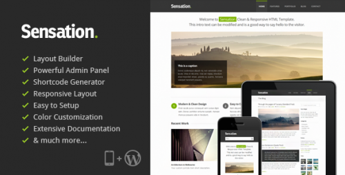 21_Sensation - Responsive WordPress Theme