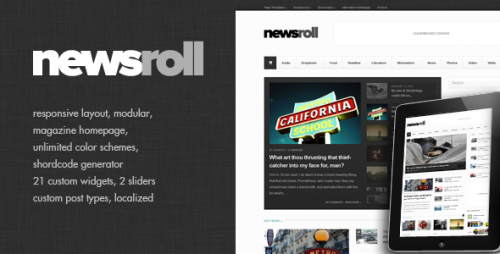 23_Newsroll - Modular and Responsive Magazine Theme