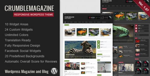 24_Crumble - Responsive Wordpress Magazine, Blog