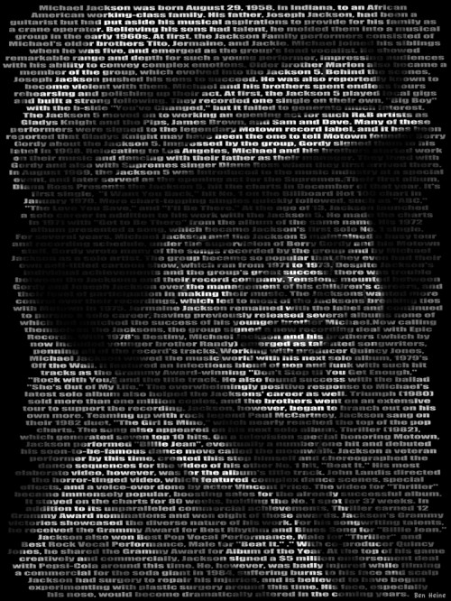 29_Michael Jackson, Text Portrait