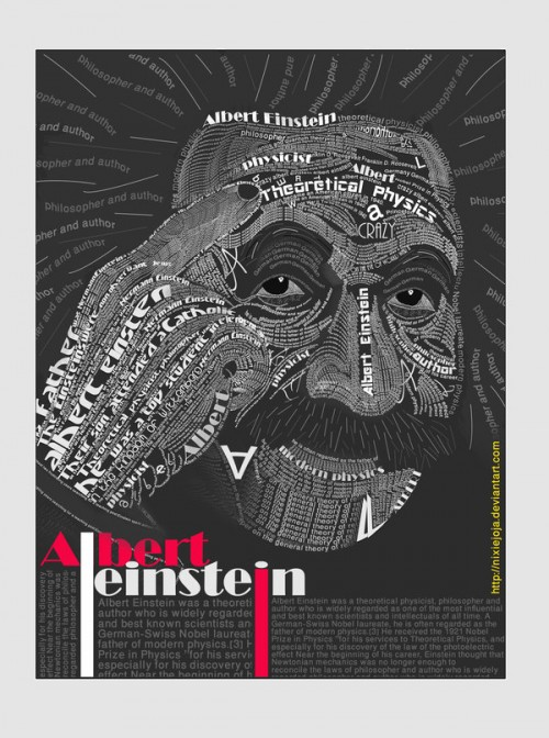 2_Albert Einstein Typography