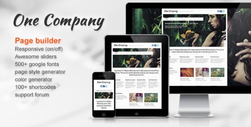 2_One Company - Responsive Business WordPress Theme