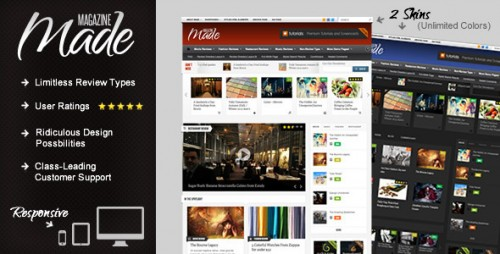 31_Made - Responsive Review, Magazine Theme