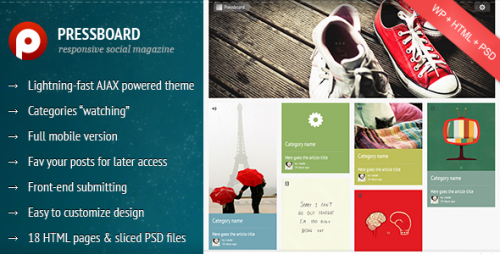 33_Pressboard - Responsive Social Magazine Theme