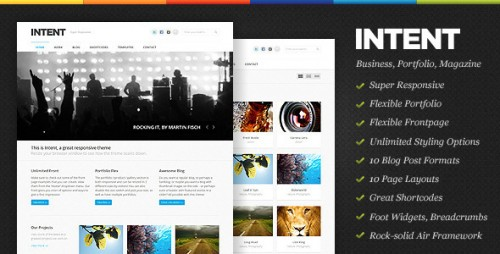 40_Intent - Business & Portfolio WordPress Theme