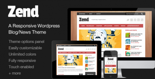 5_Zend - Responsive Blog, Magazine Wordpress Theme