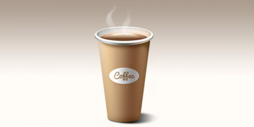 16_Paper Coffee Cup Icon (PSD)