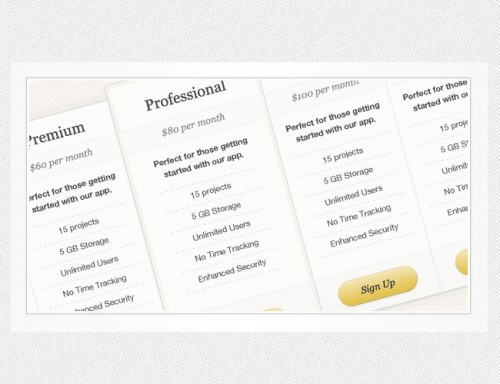 17_Simple Pricing Table (PSD)