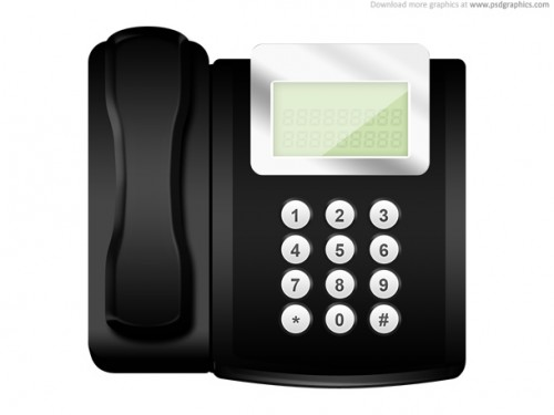 19_Modern Office Telephone Icon (PSD)