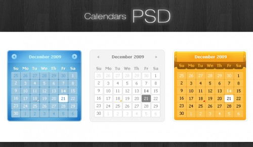 20_Calendars PSD