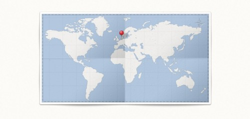 29_World Map &amp; Pin (PSD)