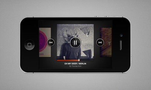 30_iPhone Music Player (PSD)