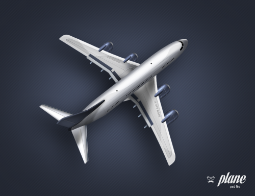 33_Plane Free PSD File