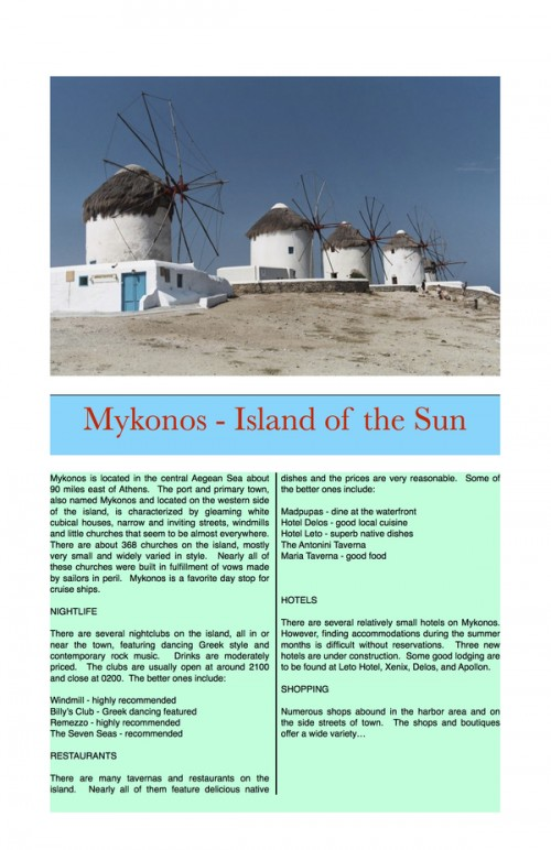 35_Mykonos - Island of the Sun (Travel Brochure)