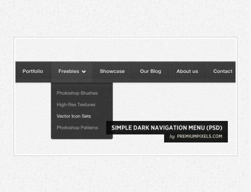 44_Simple Dark Navigation Menu (PSD)