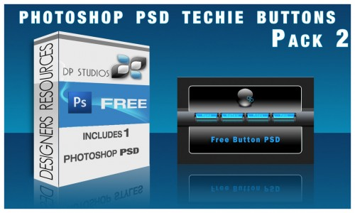 50_Techie Glass Button PSD