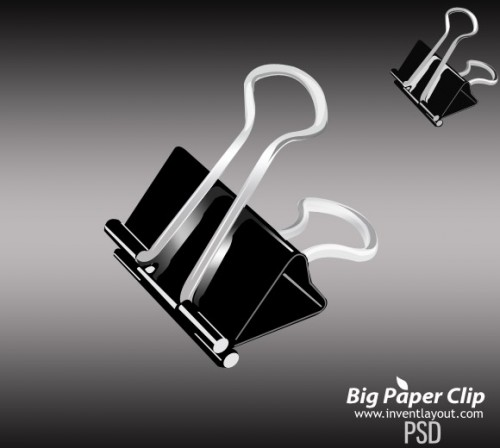 51_Big Paper Clip PSD