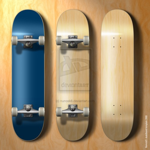 56_NEW Skateboard Template
