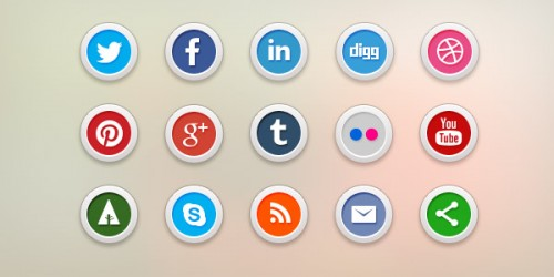 64_Social Media Icons PSD