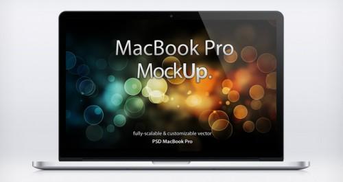 72_MacBook Pro Retina PSD Mockup