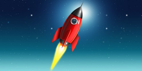 75_Space Rocket Icon (PSD)