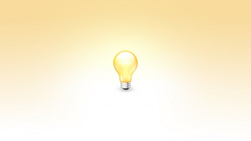83_Bulb Icon PSD