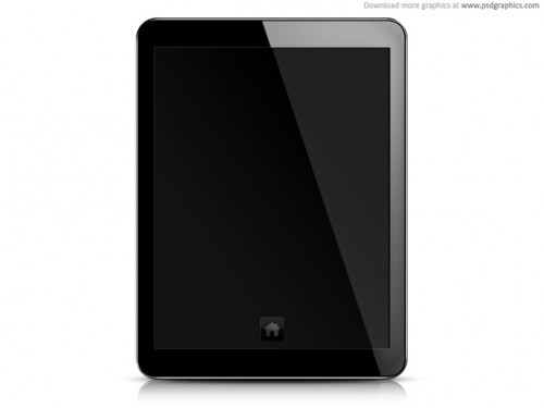 92_Tablet PC, Blank Screen PSD Template