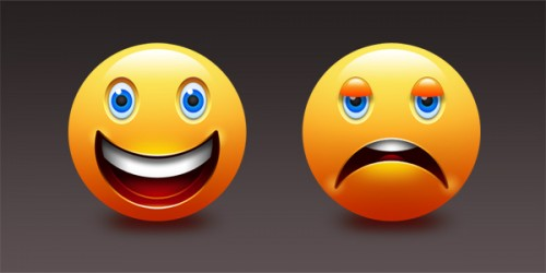 93_Happy and Sad Emoticons (PSD)
