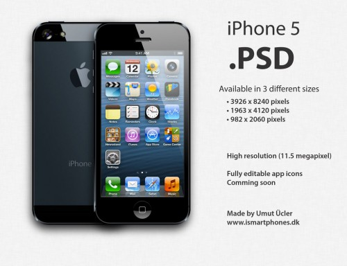 94_Apple iPhone 5 PSD