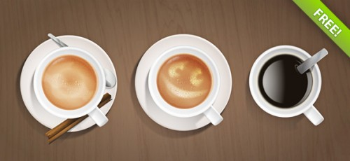 99_Coffee Cups PSD Graphic