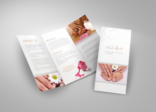 10_Tri-Fold Brochure for Cosmetic Studio
