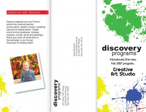 14_Trifold Brochure - Discovery Programs