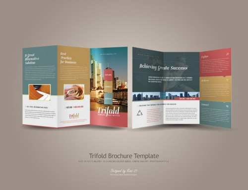 Tri Fold Brochure Design For Inspiration  Fine Art