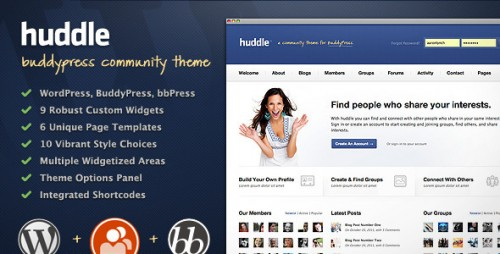 11_Huddle - WordPress & BuddyPress Community Theme
