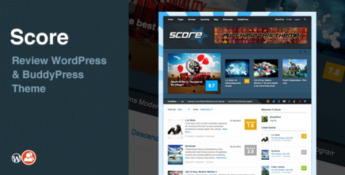 12_Score - Review WordPress &amp; BuddyPress Theme