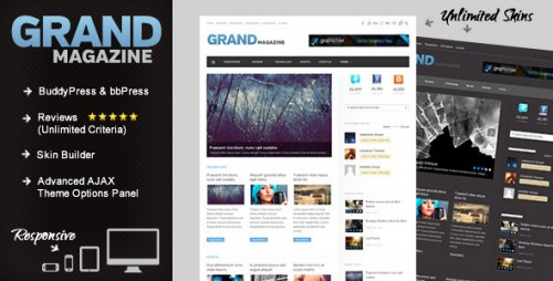 2_GrandMag - BuddyPress Magazine, Review Theme