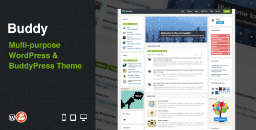 4_Buddy - Multi-purpose WordPress &amp; BuddyPress Theme