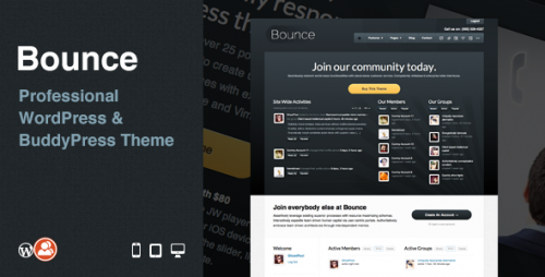 7_Bounce - Professional WordPress &amp; BuddyPress Theme