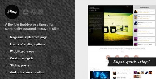 8_Play - Buddypress Theme for Community Magazines