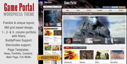 9_Game Portal WordPress &amp; BuddyPress Theme