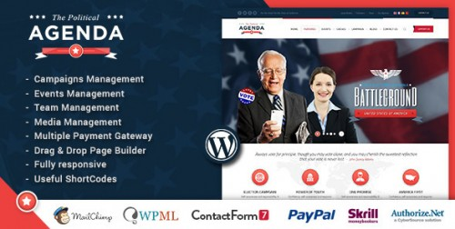 Agenda - Political Responsive WordPress Theme
