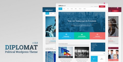 Diplomat - Political WordPress Theme