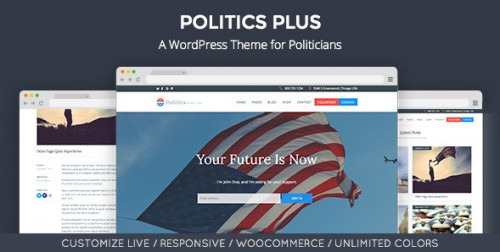 Politics Plus - Government Campaign WordPress Theme
