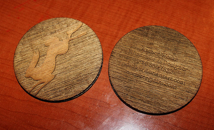 24 beautiful wooden business card designs designcanyon round wooden business card designs reheart Image collections