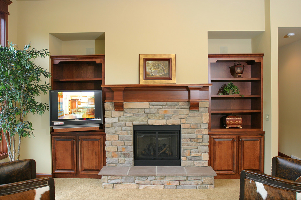 25 stunning fireplace mantel shelf ideas designcanyon for Fireplace mantel shelf designs