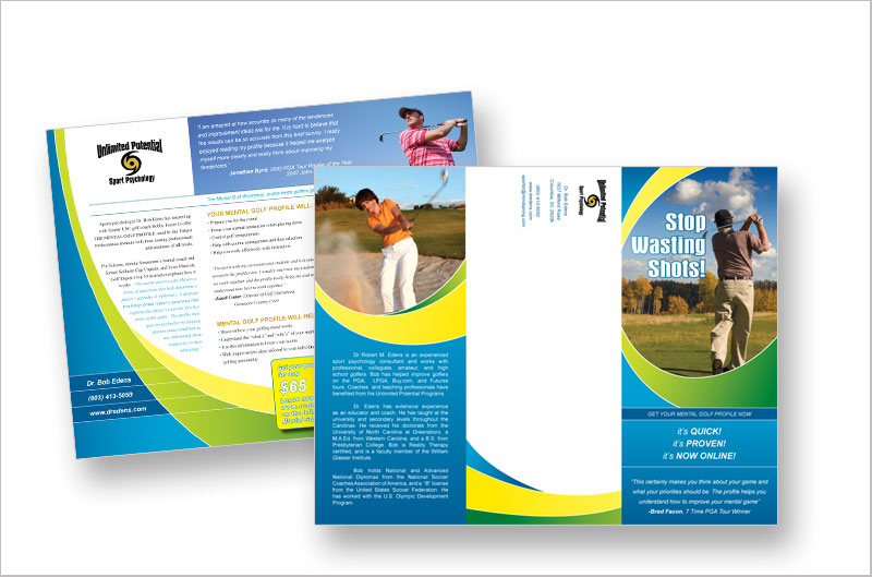 20 Colorful Brochure Designs for Inspiration DesignCanyon – Sports Brochure