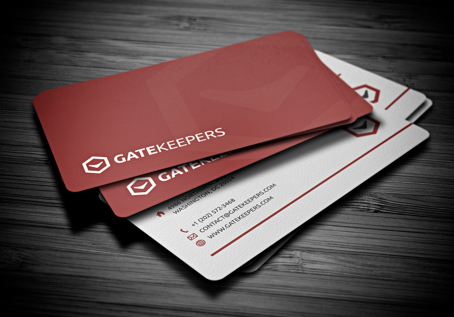 Cool Red Business Cards Design