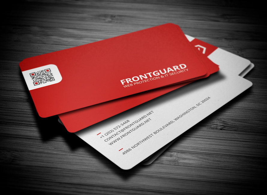 20 stunning red business cards design designcanyon creative business card reheart Gallery
